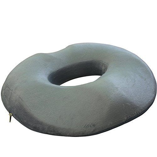 Donut Pillow Seat for Women - Foam Medical Anatomically-Shaped Female Relief Cushion from Lemon Hero. For Hemorrhoids, Post Natal pain, Surgery (Medical Pillows Bottoms)