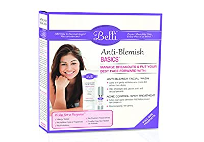 Belli skincare - Anti-Blemish Basics Value Set - Anti-Blemish Facial Wash, 6.5 oz & Acne Control Spot Treatment, 0.5 oz