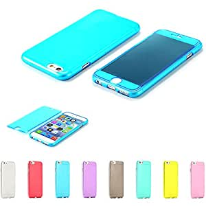 2015 New Year GIft Full Protection TPU Flip Case For iphone 6 Plus 5.5inch Clear Ultra Thin Cover For iphone 6 Plus --- Color:green