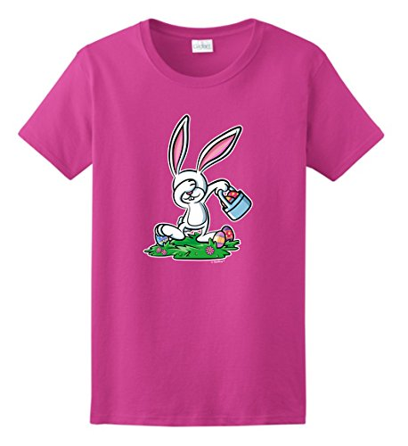 [Easter Bunny Costume Easter Christian Easter Chocolate Bunny Dabbing Easter Bunny Funny Easter Gifts Ladies T-Shirt 3XL] (Plus Size Easter Bunny Costumes)