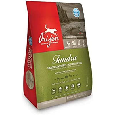 ORIJEN Tundra High-Protein, Grain-Free, Premium Quality Meat, Freeze-Dried Dog Food