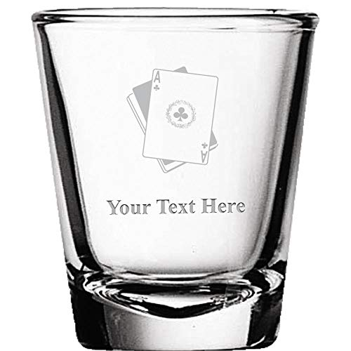Custom Shot Glasses, Personalized Playing Cards Shot Glass Gift Engraved ()