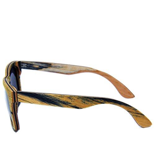 polarizadas de Gafas Madera Sol Personalidad de de Aclth Mano Protección de conducción de Sol Lente a Gafas Gafas de Sol Sol de Tiras UV Retro Gafas Hechas TAC de Gafa Playa los Hombres de q4qFwg6ZW