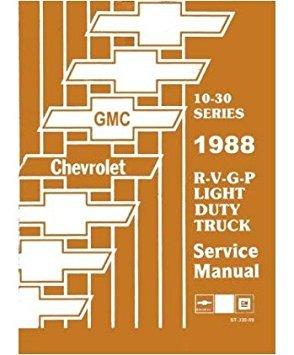 bishko automotive literature 1988 chevy gmc r/v g p suburban van shop  service repair manual engine