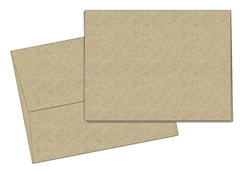 40 Blank Note Cards - Kraft - Matching Color Envelopes - Envelopes Craft Cards