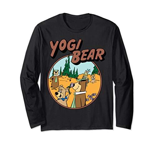 Yogi Bear In Jellystone Park Graphic Long-Sleeve T-Shirt (Pics Of Yogi Bear And Boo Boo)