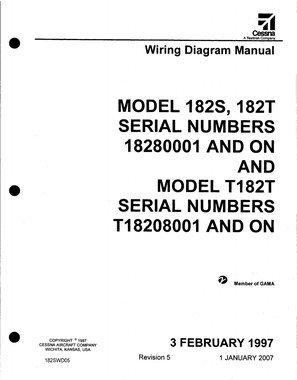 amazon com cessna 182t 182s t182t wiring electrical manual library rh amazon com cessna 208 wiring diagram cessna 172 wiring diagram