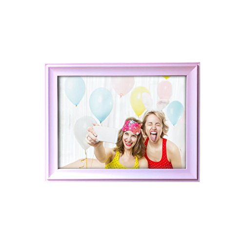 RAPID CAT Shop 8x10 inch Picture Frames ,Made of Wooden High Definition Glass for Table Top Display and Wall mounting Pink Photo Frame by RAPID CAT