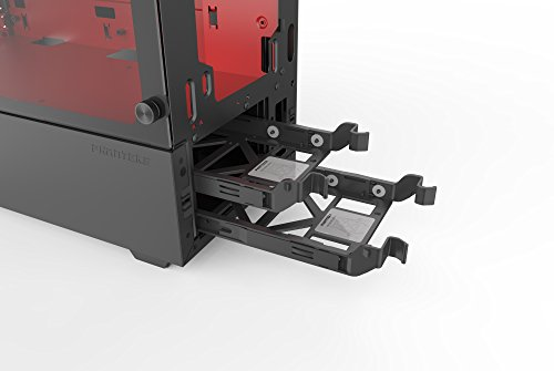 Phanteks PH-EC300PTG_BR Eclipse P300 Tempered Glass Steel ATX Mid Tower Case Black/Red by Phanteks (Image #10)