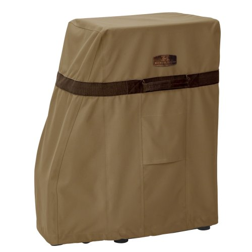 Classic Accessories Hickory Heavy Duty Square Smoker Cover - Rugged Smoker Cover with Advanced Weather Protection, Medium ()