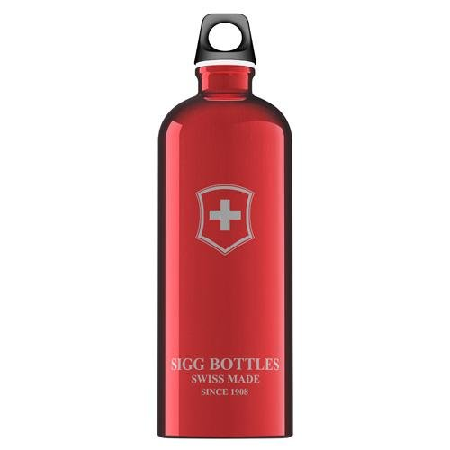 Sigg Swiss - SIGG Water Bottle - Swiss Emblem - Red 1/1 Liter Bottle(S)