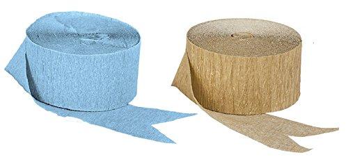 crepe paper light blue - 1