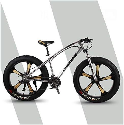 QMMD Bicicleta Montaña 26 Pulgadas, Adulto Bicicleta de Montaña Hardtail, Marco De Acero De Alto Carbono, Hombres 7-21-24-27- Velocidades Bicicleta de Montaña,Gray 5 Spokes,27 Speed: Amazon.es: Hogar