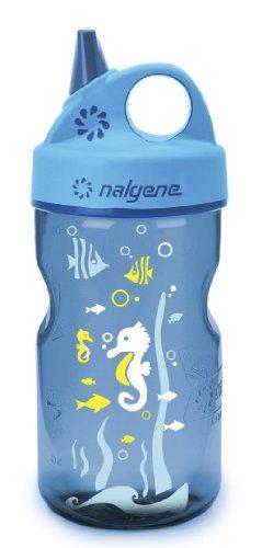 0.35 l by Nalgene Nalgene bottle Everyday Plastic Grip N Gulp Seepferdchen Blau Kunststoffflasche Everyday Grip-n-Gulp
