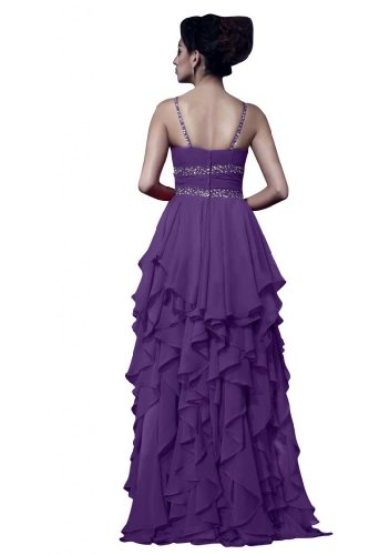 lunga taglia Viola in formale Gowns Chiffon Spaghetti Sunvary wqtEF