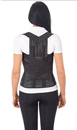 "UFEELGOOD Modular Dorso-lumbar Back Brace & Posture Corrector - Small, Waist/Belly 27½"" - 31½"" Black"