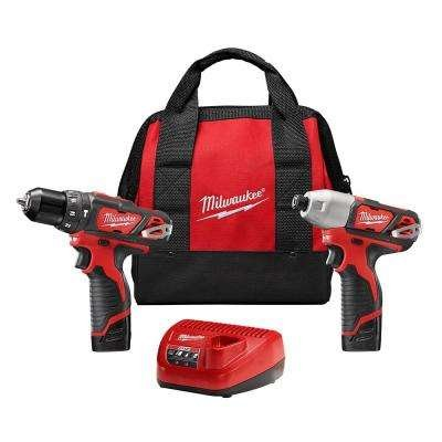 22 M12 Impact Driver (Milwaukee 2497-22 M12 12-Volt Cordless Lithium-Ion 2-Tool Combo Kit Hammer Drill and Impact Driver)