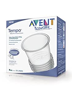 Amazon Com Philips Avent Tempo Liners 4 Ounce 50 Count