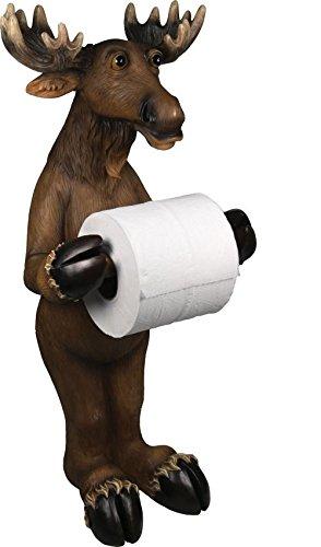 Funny Toilet Paper Holder, Moose Free Standing Bathroom Toilet Paper Holder