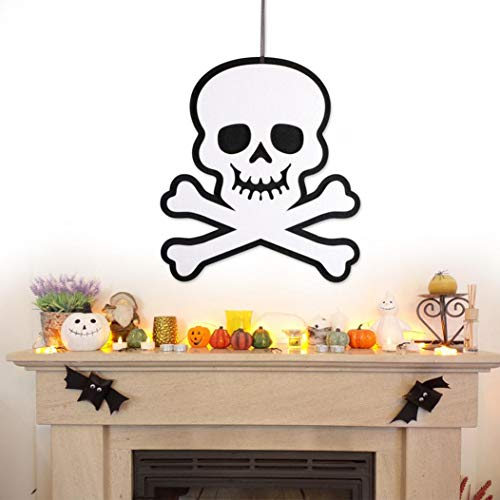 Halloween Indoor and Outdoor Hanging Door Decorations and Wall Signs Scary Party Supplies (D) by Coerni (Image #1)