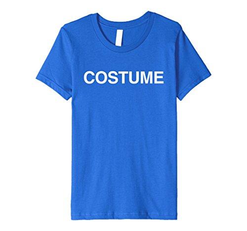 Kids Last Minute Costume Shirt - Simple Costume 12 Royal Blue (Last Minute Halloween Costume)