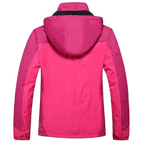 Coat Raincoats Zipper Women's Shell Outfit Puffer Parka vpass Soft Winter Assault Removable Pink Sport Waterproof Outerwear Hot Outdoor Hoodie Fur Overcoat z8ddU7wW6q