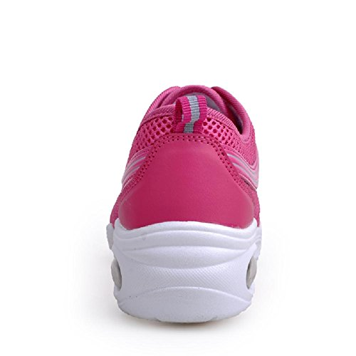 Sneakers Breathable Mesh Hot Womens Jazz Up Beauty Pink Dance D2C Lace Sport RqzwxHg1