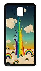 Abstract Trees Custom Samsung Galaxy Note 3/ Note III/N9000 Case and Cover - TPU - Black yaya's Individuation Custom case