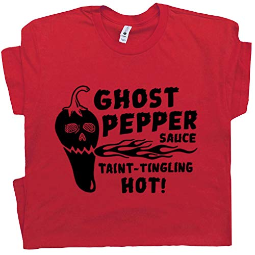 XL - Hot Sauce T Shirt Sriracha Ghost Red Hot Chilli Peppers Funny Tee Pun Taco Tuesday Mexican Food BBQ Wings (Best Barbecue In Asheville)