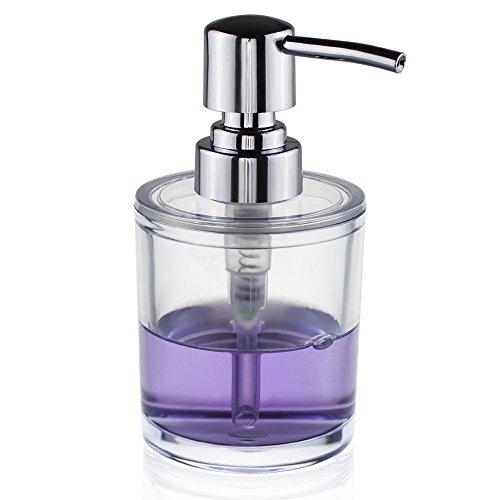 seafulee soap and lotion dispenser pump for kitchen or bathroom countertops transparent. Black Bedroom Furniture Sets. Home Design Ideas