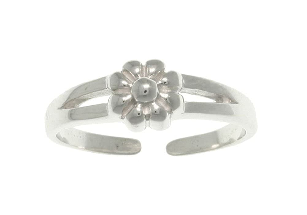 Jewelry Trends Sterling Silver Spring Flower Adjustable Toe Ring 712SFLW