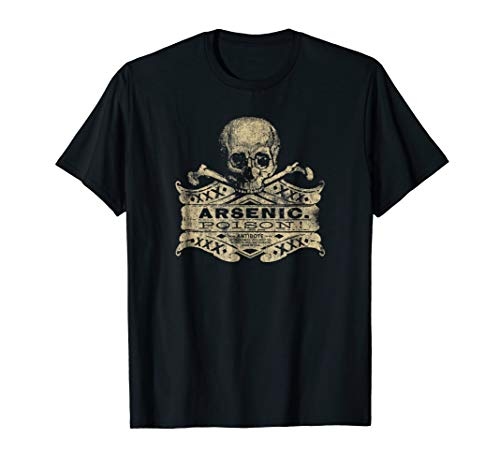 Vintage Arsenic Skull Poison Label Halloween Tee ()