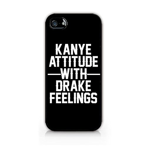 for iPhone 6 Plus/6S Plus - TPU Case - Hard Rubber Case - Kanye Attitude With Drake Feelings - Cute Quotes - Sassy Phone Case