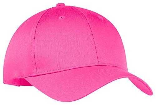 Port & Company 6-Panel Twill Cap, OSFA, Neon Pink ()