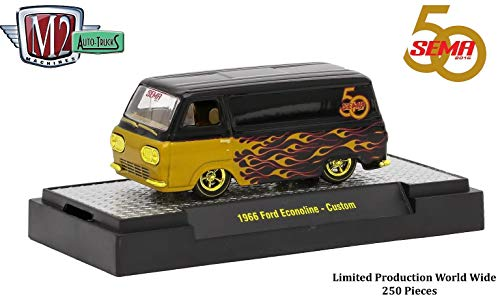 M2 Machines Limited Edition Chase Piece - SEMA 2016 Exclusive 1966 Ford Econoline Custom - Auto-Trucks Castline Premium Edition 1:64 Scale Die-Cast Vehicle & Display Case (1 of only 250 Pieces)