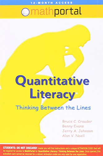 Quantitative Literacy: Thinking Between the Lines, Math Portal 12-Month Access Code