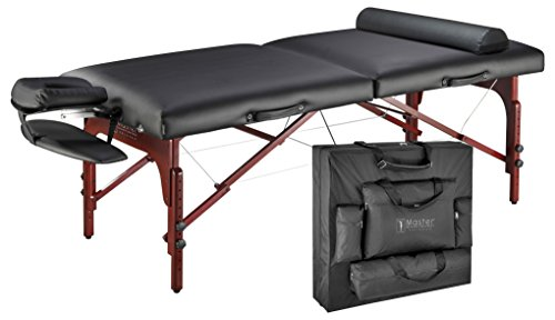 Master-Massage-31-Montclair-Professional-Portable-Massage-Table-Package-with-MEMORY-FOAM-Layer-Black