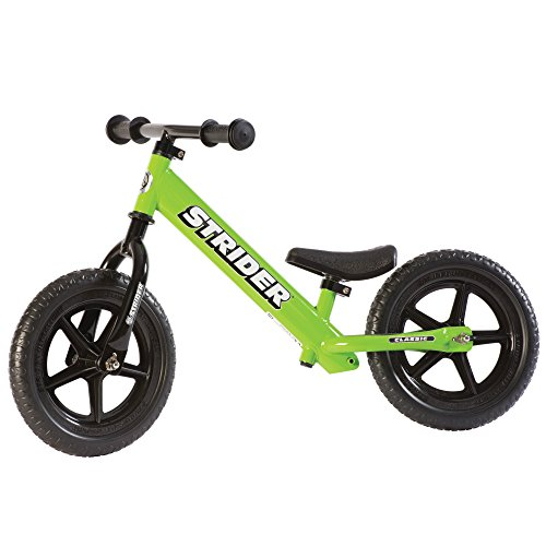 Strider - 12 Classic Balance Bike, Ages 18 Months to 5 Years, Green