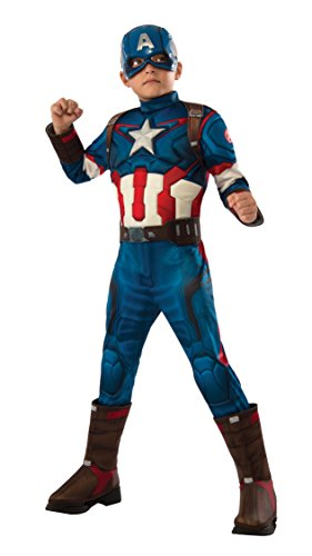 Rubie's Costume Avengers 2 Age of Ultron Child's Deluxe Captain America Costume, Small