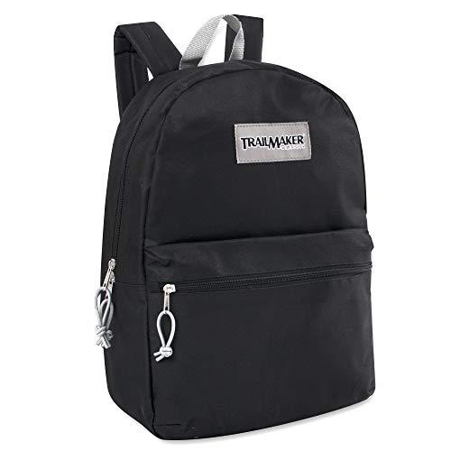 17'' Trailmaker Backpack Bookbag (Black (01)) by Trail maker (Image #1)
