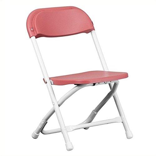 Rosebery Kids Plastic Folding Chair in Burgundy ()