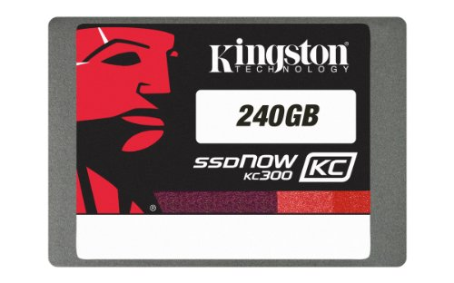 Kingston Digital 240 GB SSDNow KC300 SATA 3 2.5-Inch Solid State Drive with Adapter SKC300S37A/240G