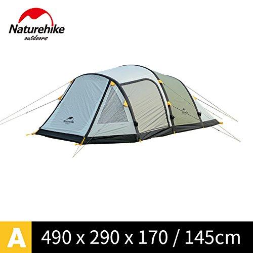 迷惑餌エンターテインメント家族の休日に大きなキャンプテントNH17T400-T用NatureHikeワームホール8-10人のテント