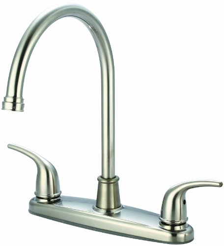 Olympia Faucets K-5370-BN Two Handle Kitchen Faucet, PVD Brushed Nickel Finish