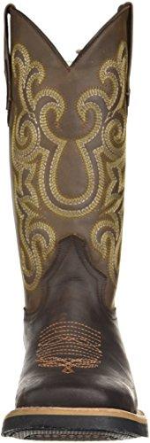 Ferrini Mens Print Magen Alligator R-toe Western Boot Choklad