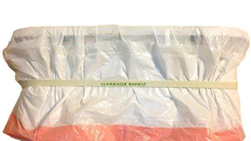 Garbage Bandz Reusable Elastic Rubber Bands For Trash Cans