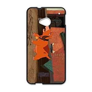 HTC One M7 Phone Case Cover Black Disney Home on the Range Character Rusty the Dog EUA15988991 Plastic Phone Case Cover Sports