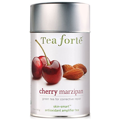(Tea Forte Skin-Smart CHERRY MARZIPAN Organic Loose Leaf Green Tea, 3.5 Ounce Tea)