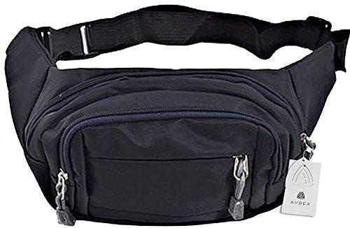 Avber Mens Multiple Pocket Adjustable Strap Sports Waist Bag Sling Bag