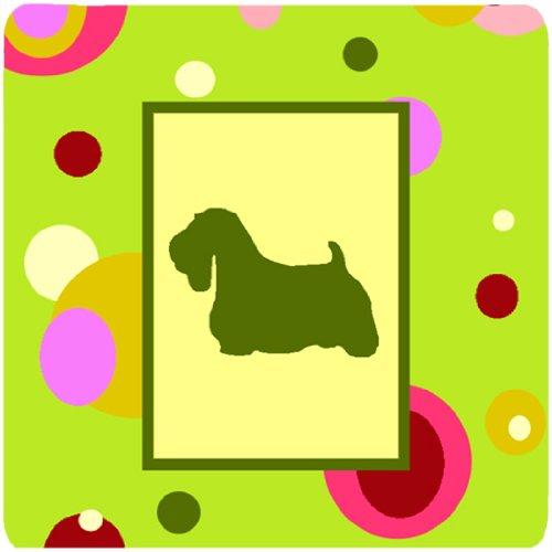 "Caroline's Treasures CK1055FC Sealyham Terrier Foam Coasters (Set of 4), 3.5"" H x 3.5"" W, Multicolor"